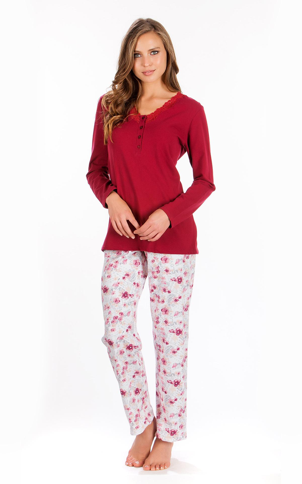 Woman Pyjama Winter Floral 1d28feb3b9c