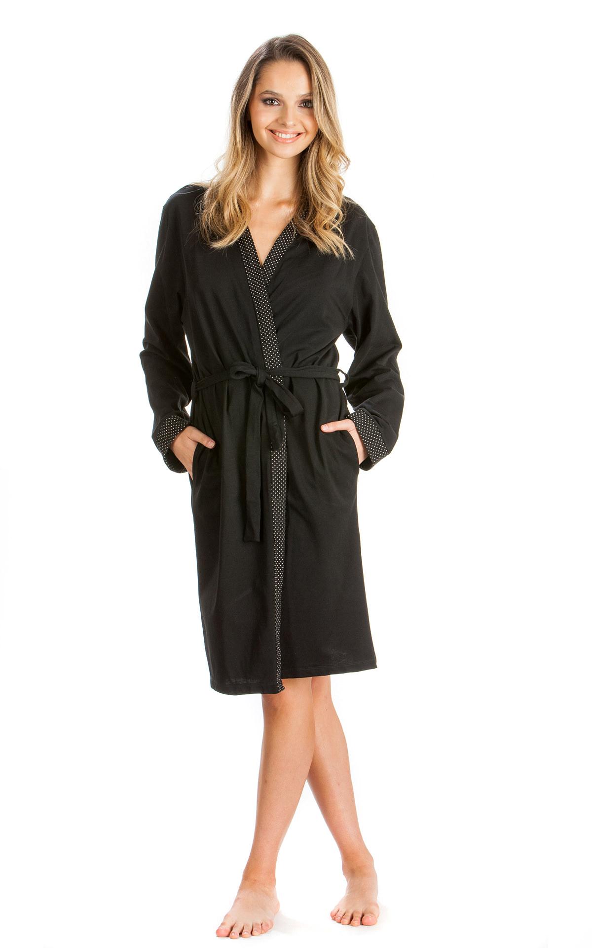 Woman Pyjama Jacket   Robe Robe Floral Dots c0d344a9535